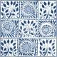 9 Square Blue VA90101P 15.2x15.2cm British Ceramic Tile